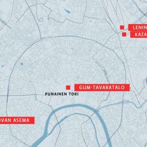 Moskovan kartta.