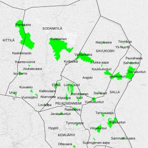 Itä-Lapin uudet luonnonsuojelualueet kartalla