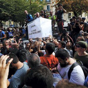 Itsenäisyysmielenosoituksia Barcelonassa