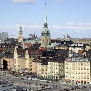 Tukholman kaupunkinäkymä.