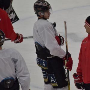 Jesperi ja Mikael Kotkaniemi jäällä