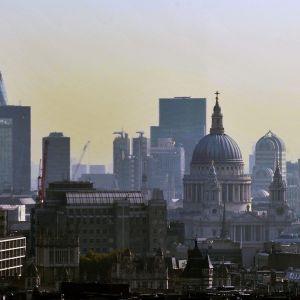 Lontoon ilmakuvassa.