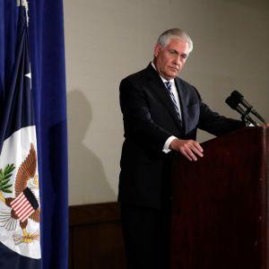 Yhdysvaltain ulkoministeri Rex Tillerson.