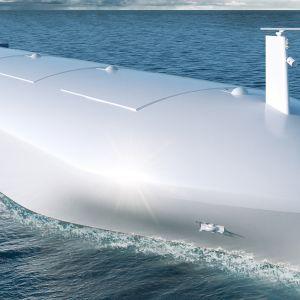 Havainnekuva Rolls Roycen tulevaisuuden laivasta.