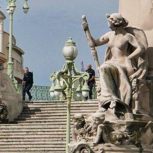 Stan Marceljan twitter-tililtä saadussa kuvassa näkyy portaikko, joka johtaa päärautatieasemalle.