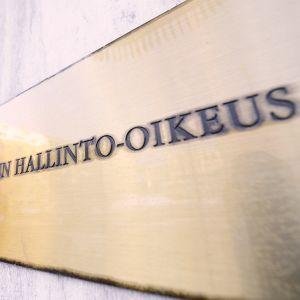 KHO:n seinäkyltti Helsingissä.