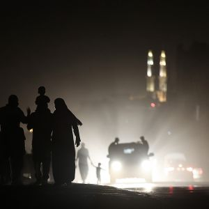 Valaisematon katu Gazassa.