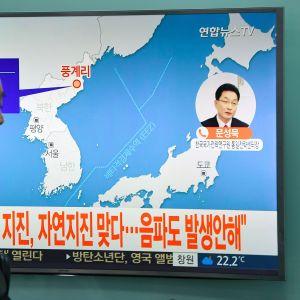 Pohjois-Korea maanjäritys.