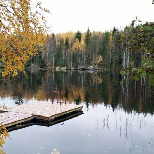 Aila ja Olli Holmstedtin ranta.