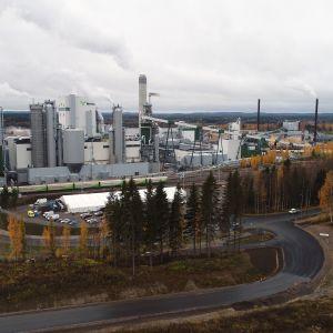 Äänekosken uusi biotuotetehdas ilmasta.