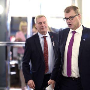 Juha Sipilä ja Antti Rinne.