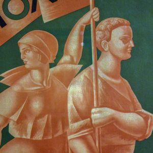 Alexander Samohvalov, Propagandataide, juliste, Venäläisen taiteen museo