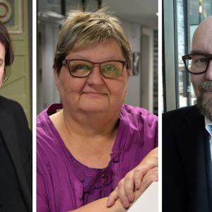 Kuvaan yhdistetty Kari Kanala, Tuula Vainikainen ja Esko Valtaoja