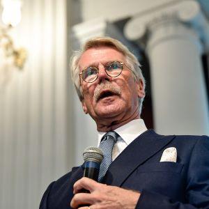 Björn Wahlroosin pamfletin Hiljainen vallankumous julkistustilaisuus 23. lokakuuta.