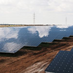 Fortumin Pavagadan aurinkovoimala.