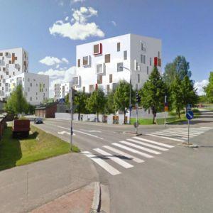 Havainnekuva Health City Finlandin kerrostalosuunnitelmista Kuopion keskustan keilahallin ja uimahallin alueella.