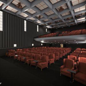 Arkkitehtitoimisto Parviainen Arkkitehdit Oy:n havainne kuva elokuvateatteri Maximista