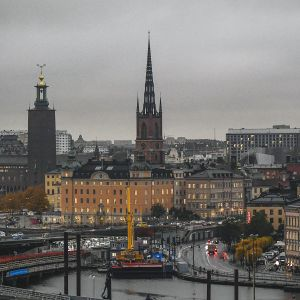 Yleiskuva Tukholman keskustasta.