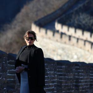 Melania Trump Kiinan muurilla