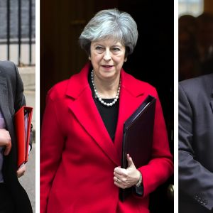 Boris Johnson Theresa May Michael Gove.