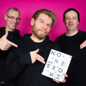DJ Orion, Kalle Kinnunen ja YleX Etusivun Jussi Latvala.