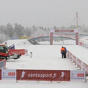 Ounasvaaran hiihtokeskus Rovaniemellä on valmsi Suomen cupin kilpailuihin.