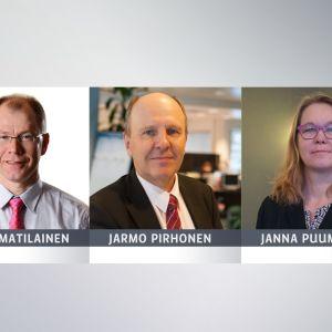 Kuopion kaupunginjohtajahaun loppusuoralla ovat Jarmo Matilainen, Jarmo Pirhonen ja Janna Puumalainen.