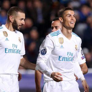 Karim Benzema ja Cristiano Ronaldo kuvassa