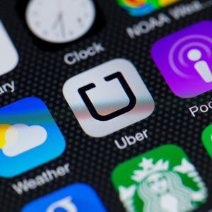 Uber taksi sovellus.