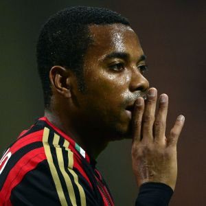 Robinho AC Milanin paidassa.