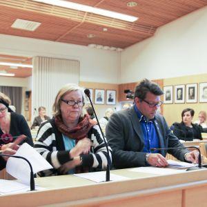 Kittilän kunnanvaltuuston kokous lokakuussa vuonna 2017