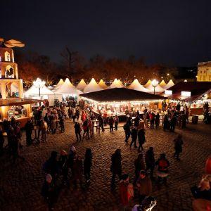 Kuva Charlottenburgin joulumarkkinoilta Berliinistä 6.12.2017