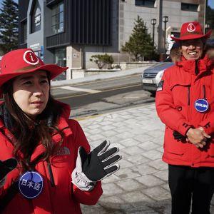 Olympiakylää Etelä-Koreassa.