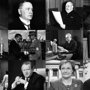 Suomen kaikki 12 presidenttiä.