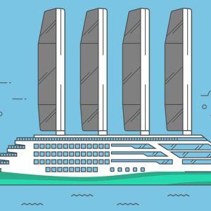 Piirroskuva tulevaisuuden laivasta.