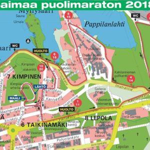 Saimaa puolimaratonin uusi reitti
