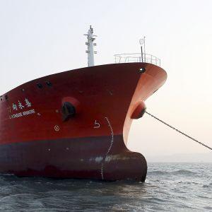 Hongkongilainen Lighthouse Winmore -alus Etelä-Korean vesillä.