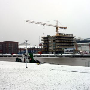Nybyggen vid Varvsstranden i Åbo.