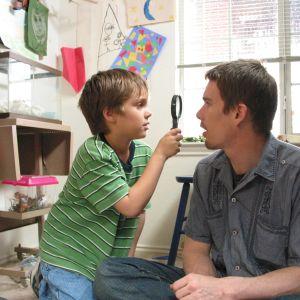 Ellar Coltrane och Ethan Hawke i filmen Boyhood.