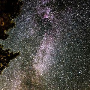 Vintergatan fotograferad i Ingå.