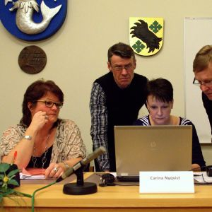 Katarina Heikius, Stig Svens, Carina Nyqvist och Kjell Heir i Vörå.