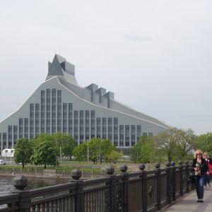 Lettlands nationalbibliotek i Riga