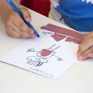 En robot-teckning