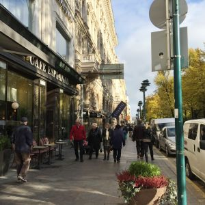 Människor i centrum av Helsingfors