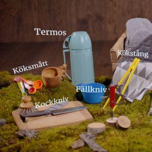 Förslag på utrustning för friluftskocken