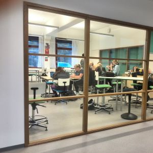 Klassrum med elever