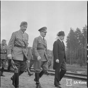 Mannerheim, Hitler och Finlands president Ryti.