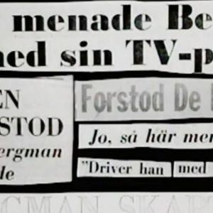 Rubriker om Bergmans pjäs.