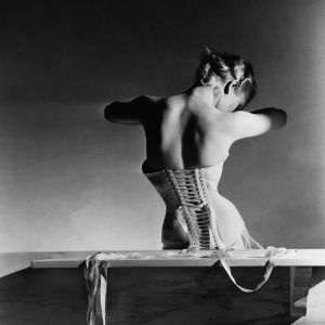 """The image shows """"The Mainbocher Corset"""" by Horst P. Horst, VOGUE Archive Collection, www.lumas.com. LUMAS VOGUE Collection presents Masterpieces of Fashion Photography. Iconic fashion photographers of the 20th century from the archives of American VOGUE."""