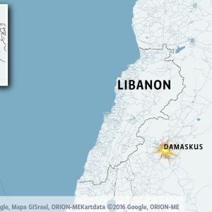 Karta över Syrien
